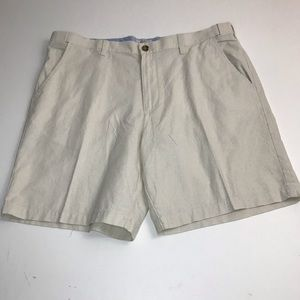 Croft & Barrow Linen Flat Front Shorts. L4